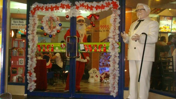 Colonel Sanders at Christmas