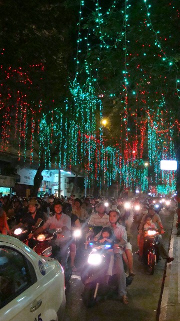 Saigon Christmas lights